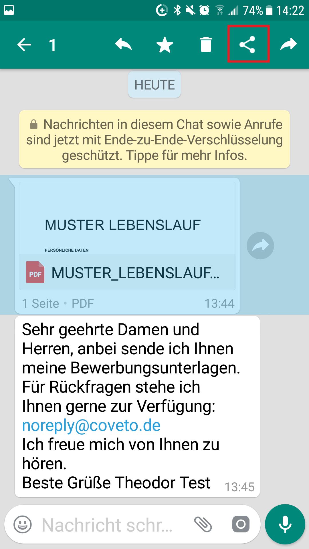 Charmant Lebenslauf Weiterleiten E Mail Senden Galerie - Beispiel ...