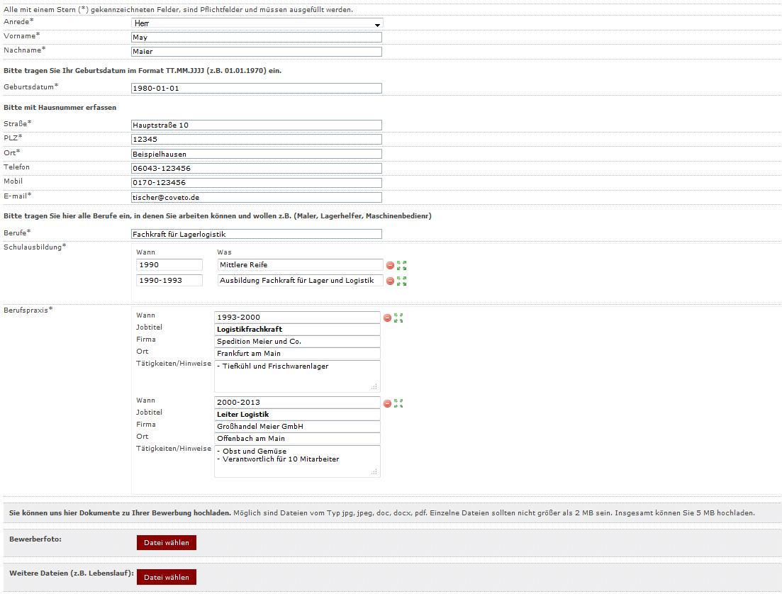 Groß Bewerbungsformular Galerie - Entry Level Resume Vorlagen ...